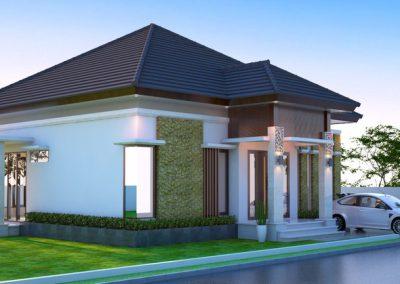Desain Arsitek Rumah Gaya Bali - 01