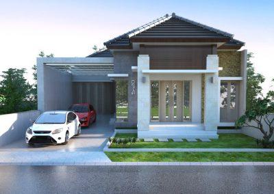 Desain Arsitek Rumah Gaya Bali - 03