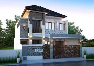 Desain Arsitek Rumah Gaya Bali - 07