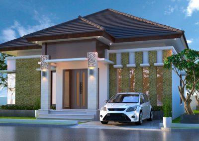 Desain Arsitek Rumah Gaya Bali - 09