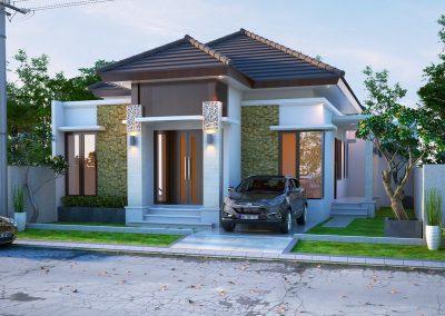 Desain Arsitek Rumah Gaya Bali - 11
