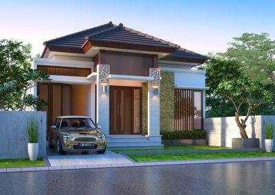 Desain Arsitek Rumah Gaya Bali - 13