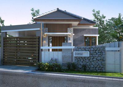 Desain Arsitek Rumah Gaya Bali - 19