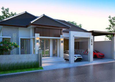 Desain Arsitek Rumah Gaya Bali - 21