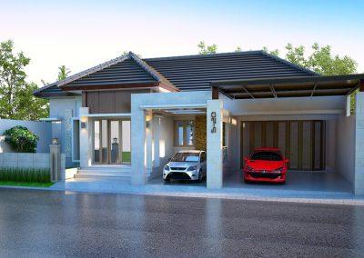 Desain Arsitek Rumah Gaya Bali - 22