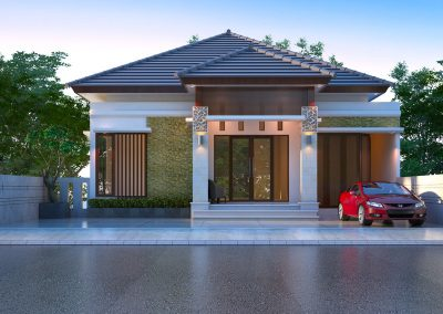 Desain Arsitek Rumah Gaya Bali - 24