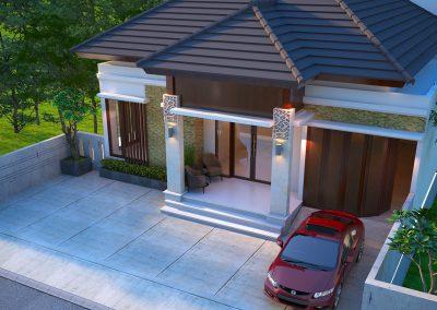 Desain Arsitek Rumah Gaya Bali - 28