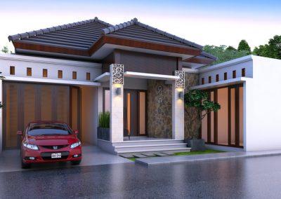 Desain Arsitek Rumah Gaya Bali - 29
