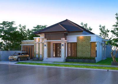 Desain Arsitek Rumah Gaya Bali - 37